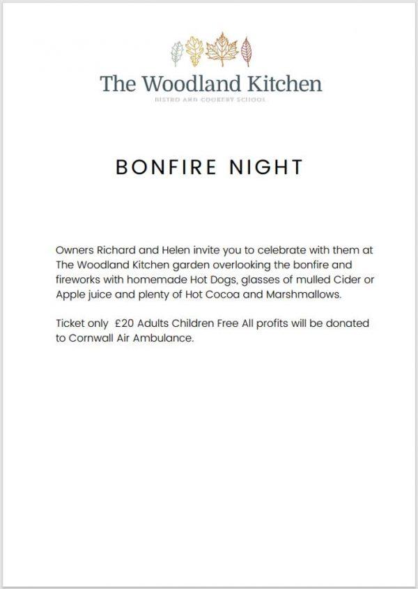 Bonfire Night Meal