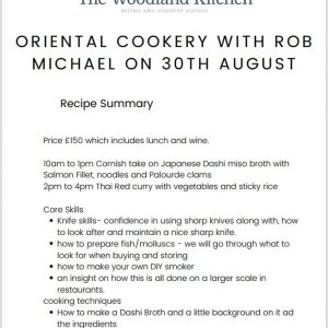 Oriental Cookery with Rob Michael
